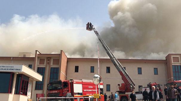 Bursa'da hastanede korkutan yangın !