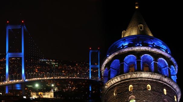 Görenler hayran kaldı ! İstanbul maviye büründü