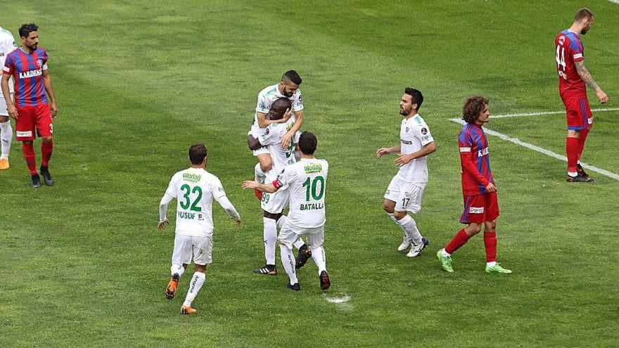 Bursaspor'da 3 puan hasreti sona erdi
