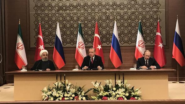 Ankara'daki üçlü zirve sonrası liderlerden açıklama