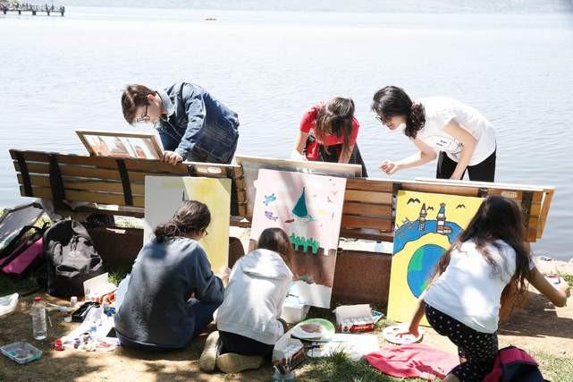 Küçükçekmece'de 2000 çocuk İstanbul'u resmetti