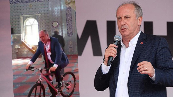 Muharrem İnce'den cami içerisinde bisiklet fotoğrafına sert tepki