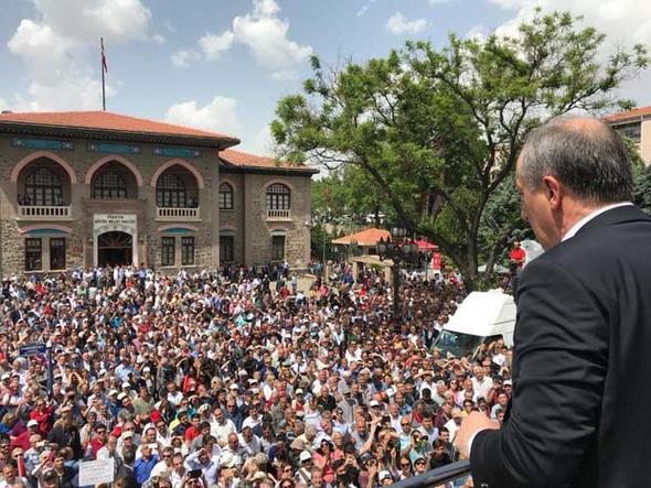 Cumhurbaşkanı adayı İnce seçim startını verdi