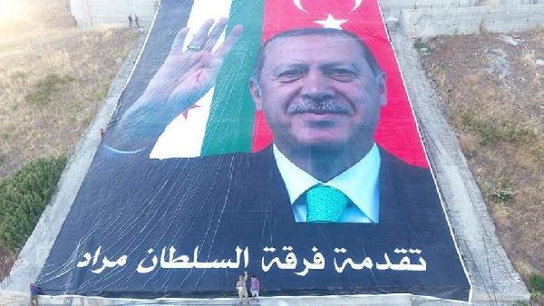 Öcalan resminin imha edildiği yere dev Erdoğan posteri