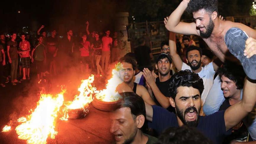 Göstericiler parti binalarını basmaya başladı