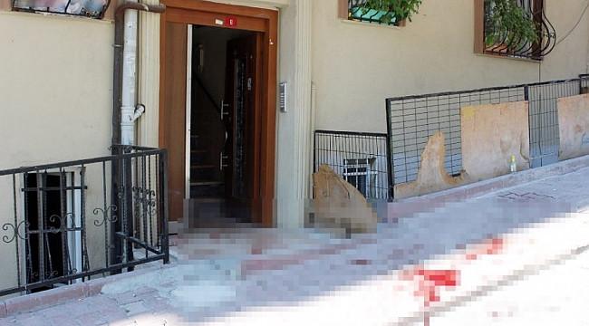 Apartmanda pusu kurup, eski eşini 13 yerinden bıçakladı