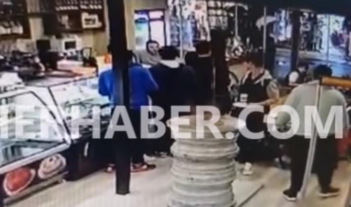 Arap turistlerin kavgası kamerada