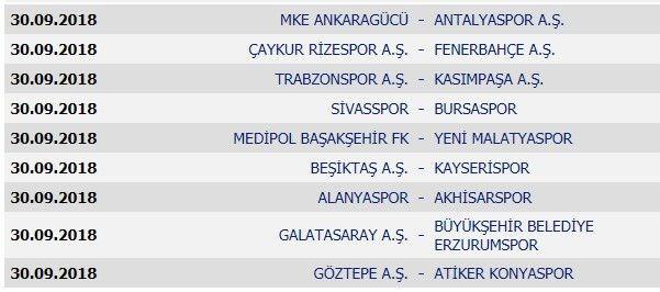Süper Lig'de yeni sezonun fikstürü belli oldu !