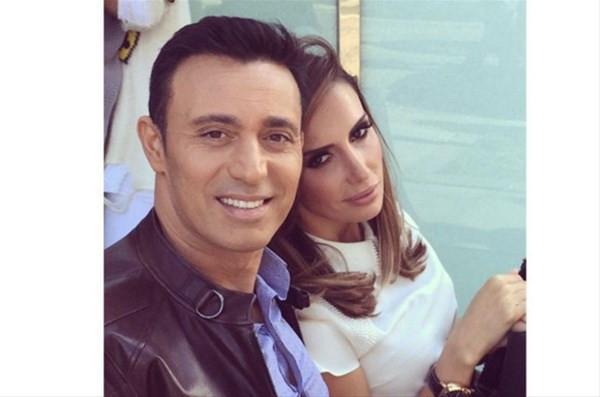 Mustafa Sandal ile Emina Sandal teknede