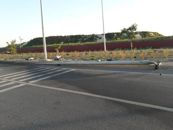 Malatyaspor taraftarını taşıyan minibüs kaza yaptı !