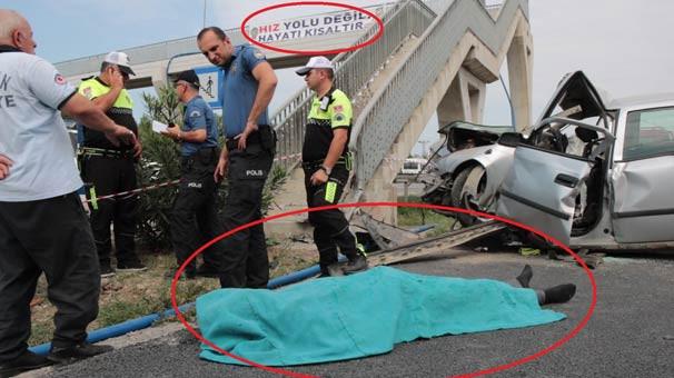 Kaza yerinde acı tesadüf !