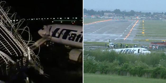 Yolcu uçağında dehşeti yaşadılar; nehre kayan uçak alev aldı: 18 yaralı