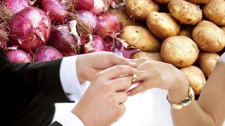Patates soğan hediyesi evliliği bitirdi