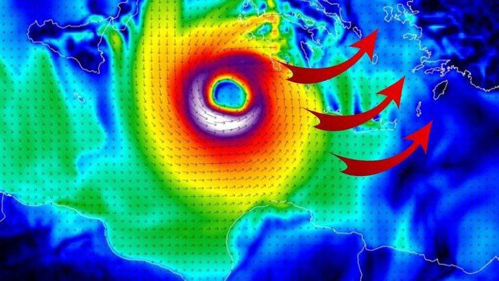 Rotası değişmezse felaket olacak ! Kasırga adım adım Türkiye'ye geliyor