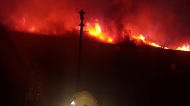 Kız yurdunun yemekhanesinde yangın çıktı