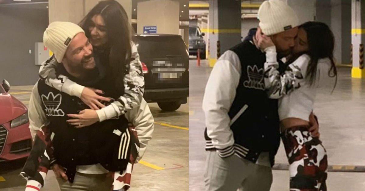 Otoparkta aşka geldiler