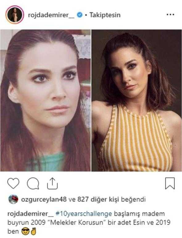 Türk ünlüler 10yearschallenge'te