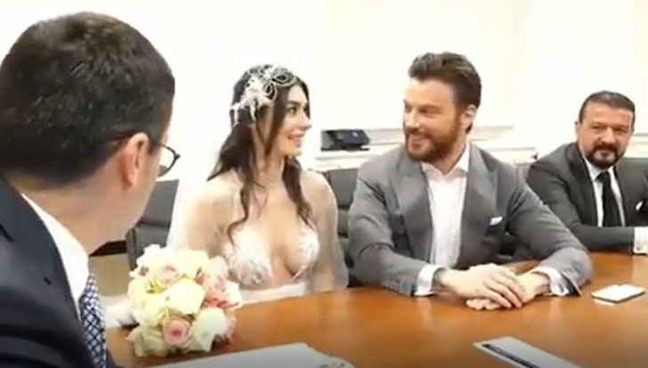 İşte Sinan Akçıl ile Burcu Kıratlı'nın nikah görüntüleri