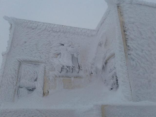 Öyle soğuk ki, heykeller bile buz kesti