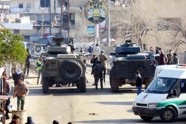 Afrin'deki bombalı saldırıdan ilk görüntüler