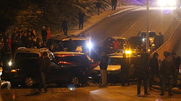 Samsun'da zincirleme kaza: 14 araç kaza yaptı