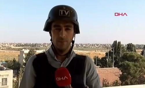 Teröristlerin havan saldırısı sırasında muhabirin zor anları kamerada
