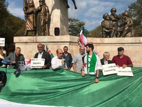 İstanbul'daki Suriyeliler'den Barış Pınarı Harekatı'na mesaj