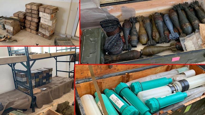 Tel Abyad'da çok sayıda silah ve mühimmat bulundu