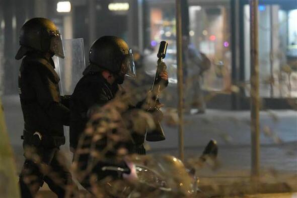 İspanya'da sokaklar savaş alanına döndü