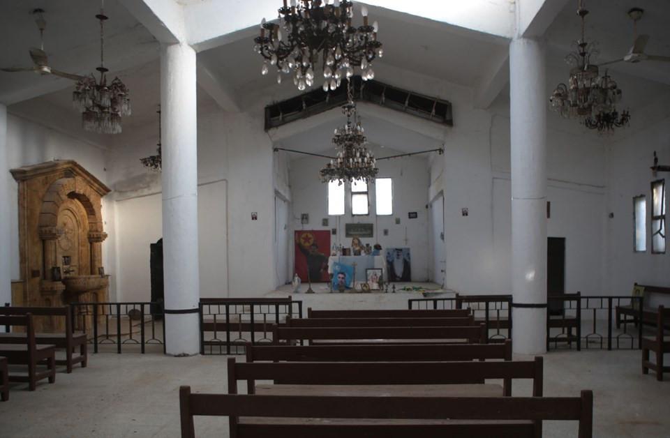Teröristler Ermeni kilisesini bu hale getirmiş
