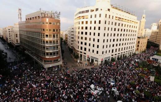 Lübnan'da göstericilerden dikkat çeken Erdoğan sloganı