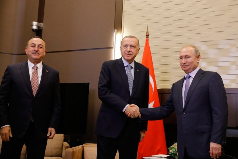 Erdoğan ve Putin arasında dikkat çeken kare