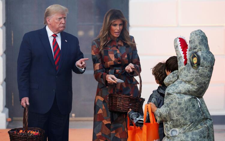 Trump, Cadılar Bayramı kutlamalarına damgasını vurdu