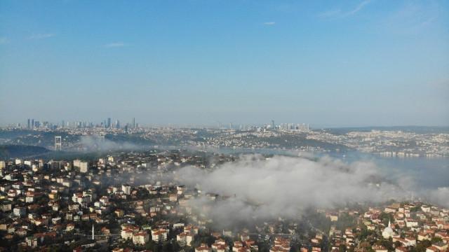 İstanbul'dan sis manzaraları