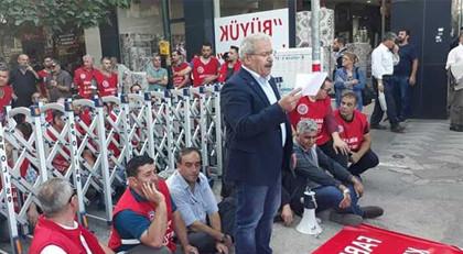AK Parti önünde oturma eylem