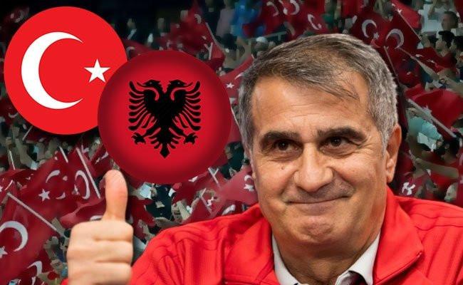 Şenol Güneş'ten sürpriz Arnavutluk 11'i