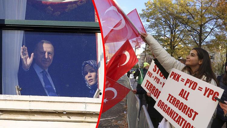 Cumhurbaşkanı Erdoğan, ABD'de böyle karşılandı