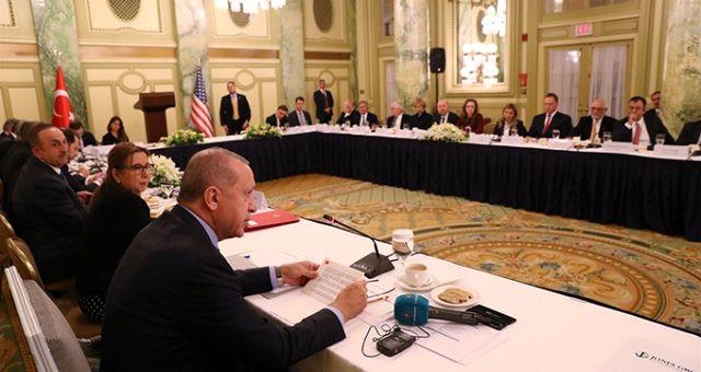 Erdoğan, ABD'li iş adamlarıyla buluştu