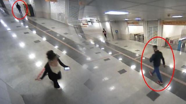Üniversiteli kızları taciz eden sapık kamerada