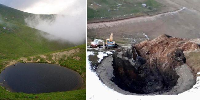 Dipsiz Göl'deki define kazısı ile ilgili soruşturma başlatıldı
