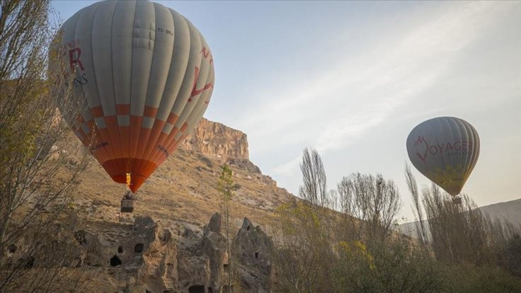 Türkiye'nin yeni Kapadokyası'nda ilk balonlar uçtu