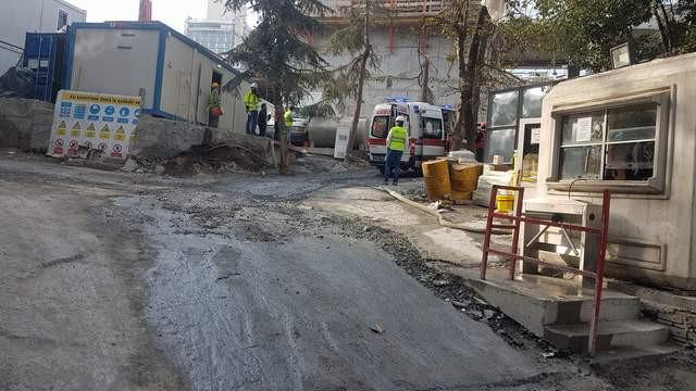 Taksim'deki AKM inşaatında kaza: 1 işçi yaralandı