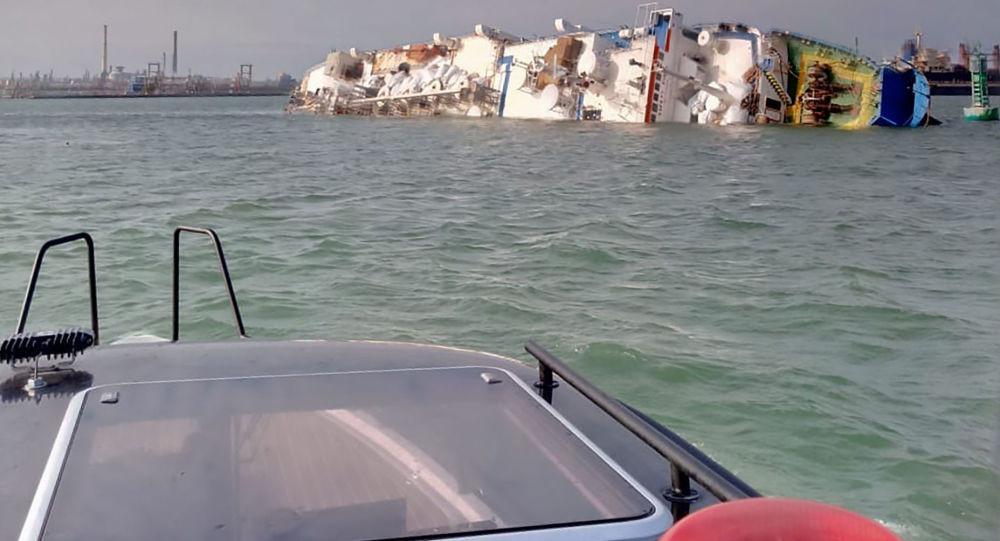 Yük gemisi Karadeniz'de alabora oldu