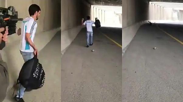 İsrail askerlerinin Filistinli gernci vurma anı böyle görüntülendi