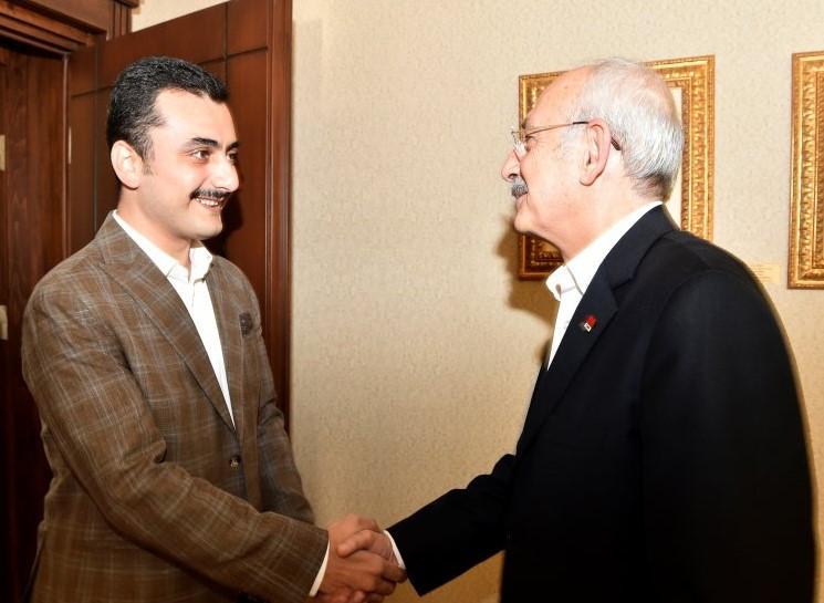 Kılıçdaroğlu CHP GEnel Merkezi'nde Eren Erdem'i ağırladı