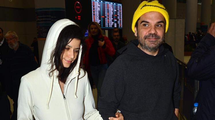 Beren Saat ve Kenan Doğulu İstanbul'a döndü