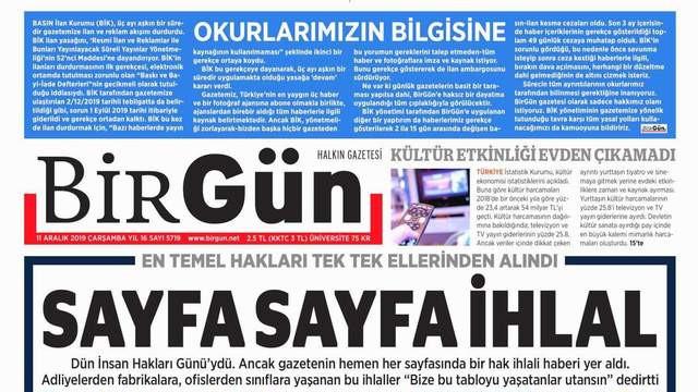 BirGün'e ilan cezası!