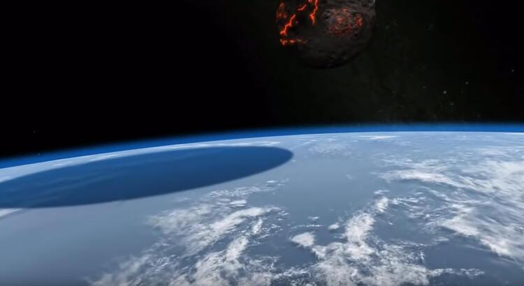Dünya'ya meteor düşerse ne olur ? İnanılmaz görüntüler