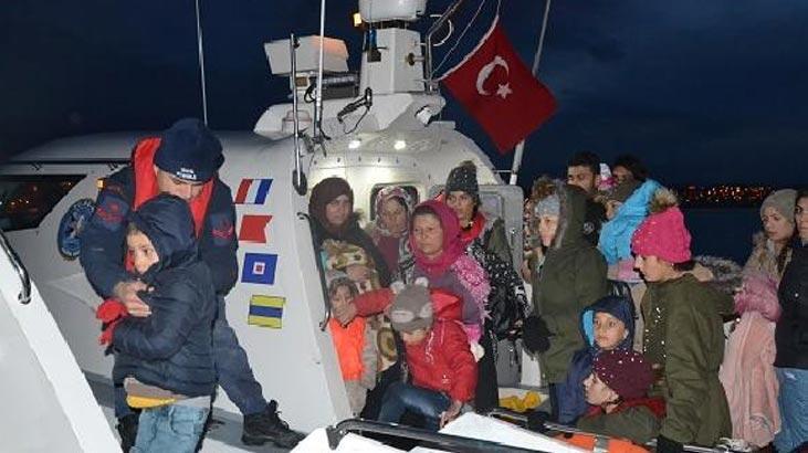 108 kaçak göçmen yakalandı !