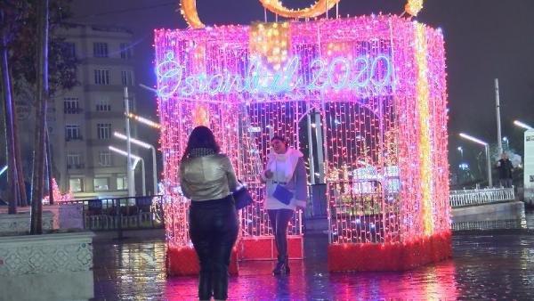Taksim Meydanı yılbaşına hazır